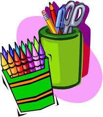school supplies icon for back pack drive
