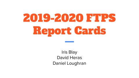 2019-2020 Report Card Presentation - English