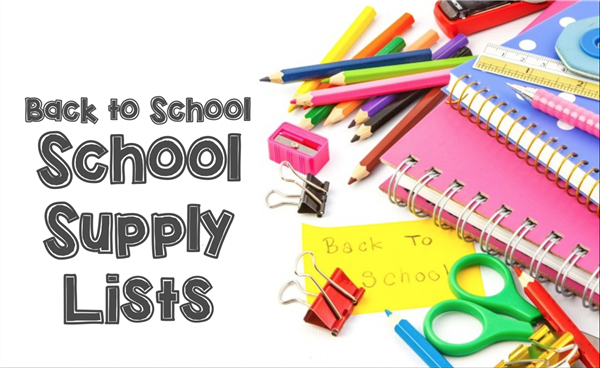 School Supply list per grade level